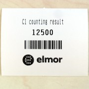 Plain text and barcode printer for seed counter
